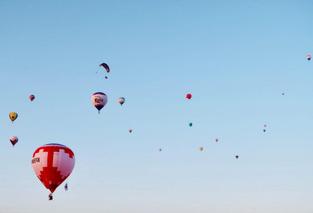 mongolfiere nel cielo